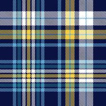 Plaid Pattern In Navy, Blue, Y...