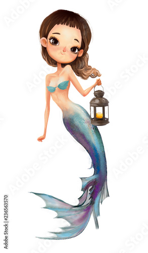 cute cartoon mermaid