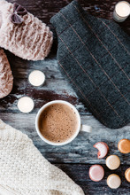 Hot Chocolate, Slippers, Knitwear, Macaroons And A Hot Water Bottle. Cosy Things.