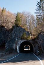Tunnel On Mountain