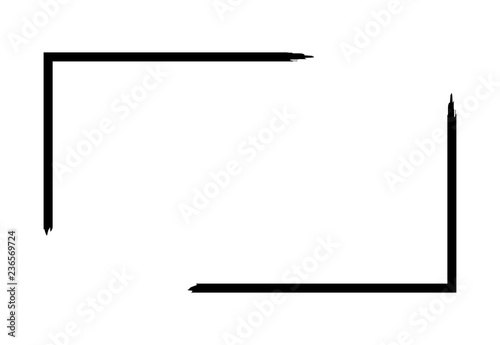 Fotografia, Obraz Grunge frame isolated on white background