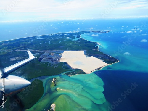 Flying in the tropical areas between Port Gentil and Libreville, Gabon Tableau sur Toile
