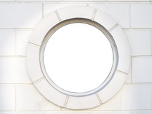 Old White Antique Round Window