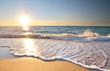 canvas print picture Beautiful beach shore seascape.