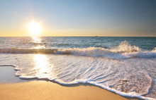 Beautiful Beach Shore Seascape.