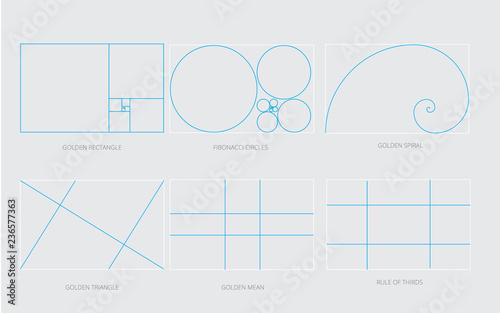 Golden Ration Concept Design Elements Fotobehang