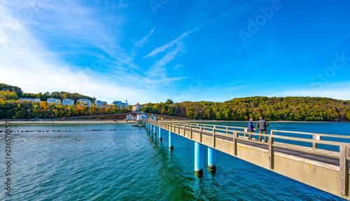 Foto auf Gartenposter Strand Seebrücke Binz Rügen