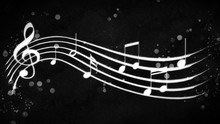 Black And White Background Musical Notes