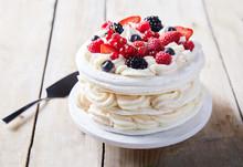 Gourmet Pavlova Cake With Fres...