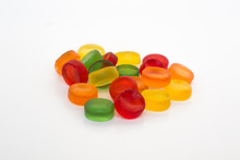 Round Gummy Candy Isolated On ...