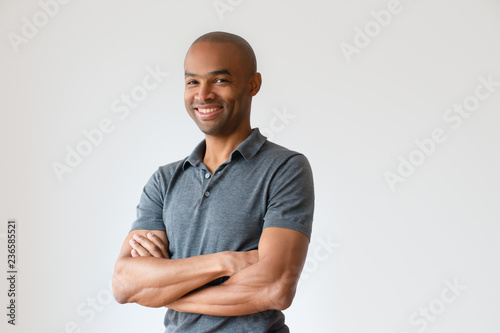 Fotografie, Obraz  Happy successful African American man with toothy smile