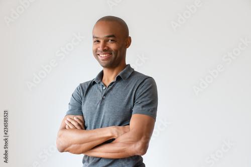 Fotografía  Happy successful African American man with toothy smile