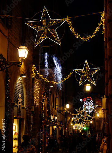 Christmas In Italy Decorations.Florence November 2018 Christmas Lights Decorations In The
