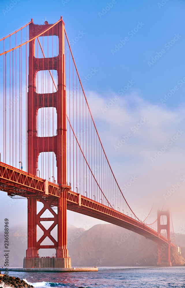 Fototapeta Golden Gate Bridge at morning, San Francisco, California