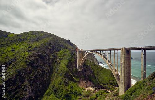 Deurstickers Centraal-Amerika Landen Bixby Creek Bridge on Highway 1, California