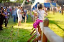 Children Having Fun During Annual Medieval Festival, Held In Trakai Peninsular Castle.