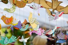 Cute Colorful Wooden Birds Sol...