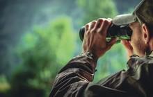 Camouflage And Binoculars
