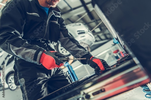 Fotografia, Obraz Car Mechanic Tool Box