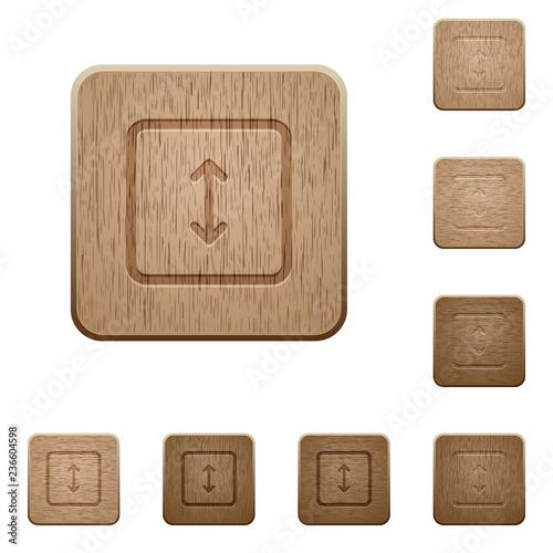 Fotografía  Adjust object height wooden buttons