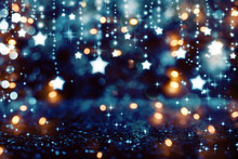 Beautiful Shiny Stars With Abstract Light Background