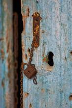 Rusting Vintage Iron Padlock A...