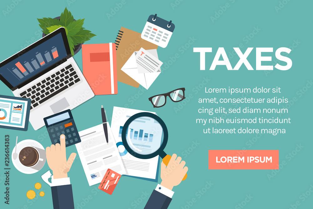 Fototapeta taxes