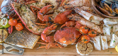 Poster Coquillage seafood platter