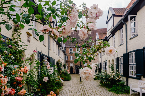 street in old town of Lubeck Germany