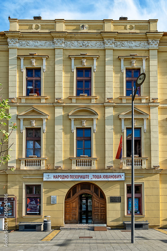 In de dag Theater Zrenjanin, Serbia - May 17, 2018: National Theater