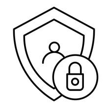 Locked User Thin Line Icon. Ac...