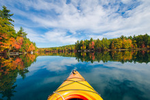 Kayak On Fall Lake