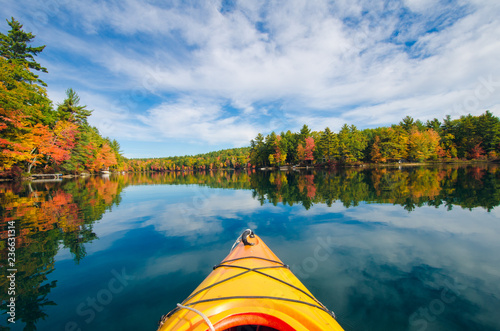 Tela Kayak on Fall Lake