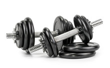 Dumbbells Isolated On A White ...