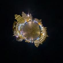 Night Little Planet. Spherical...