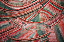 NABEREZHNYE CHELNY - 13  NOVEMBER  2016: Exhibition Odintsov Elena Innokentevna. Colored Tapestry With Multicolored Decorative Pattern. Woven Home Rugs - Traditions Craft And Decor Of Interior.