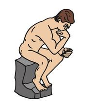 Thinker Auguste Rodin Smartphone User