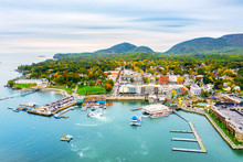Aerial View Of Bar Harbor, Mai...