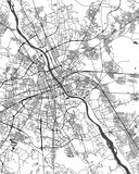 Map of the city of Warsaw, Poland - 236657385
