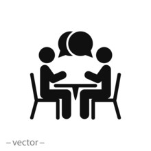 Two People At The Table Icon, ...