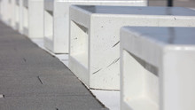 Row Of White Concrete Blocks