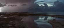 Lightening And Sea Storm