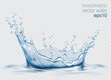 Transparent Vector Water Splas...