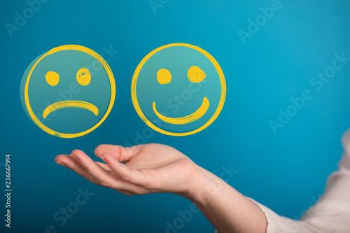 Fotografia  mood smiley in hand
