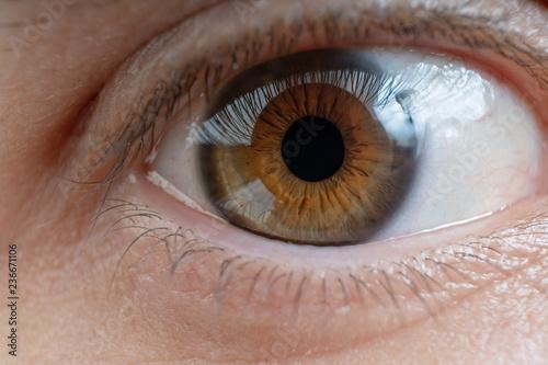 Foto op Aluminium Iris Close-up view on man's eye.