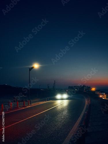 Foto op Plexiglas Nacht snelweg last light