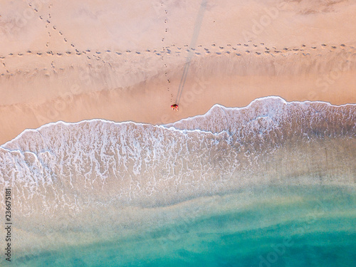Aerial photo of tropical beach