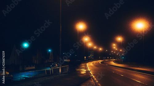 Foto op Plexiglas Nacht snelweg Street at night