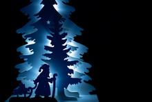 Weihnachtsmann, Schlitten, Nikolaus, Baum, Weihnachten, Kerze, Flame, Licht, Mond