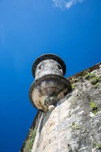 Sentry Box At El Morro Fortress In San Juan, Puerto Rico USA